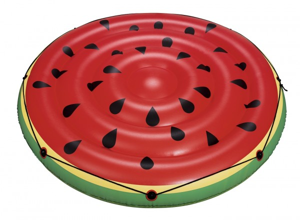 """Badeinsel """"Melon"""" 188x188cm rot grün aufblasbar bis 90kg belastbar inkl. Halteleine"""