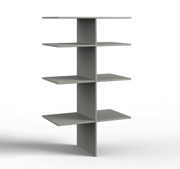 """Wäscheeinteilung """"Melboo"""" grau für Schränke ab 2m Höhe Rastermaß 90cm 87x150x50cm (BxHxT) Zubehör"""