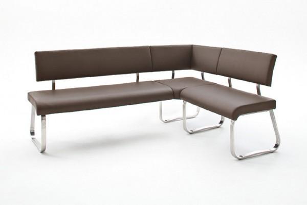 eckbank frogo sitzbank bank essbank mit r ckenlehne braun 200x87x60cm beauty scouts. Black Bedroom Furniture Sets. Home Design Ideas