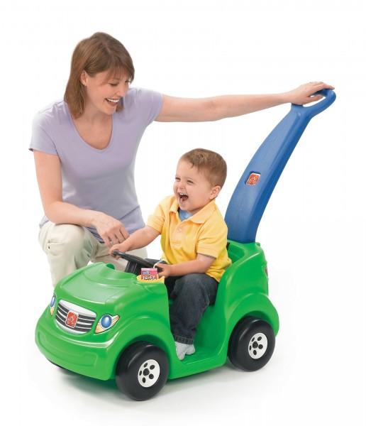 """Kinderauto """"Merida"""" in grün mit Schiebegriff aus Kunststoff 41,3x76,2x88,9cm"""