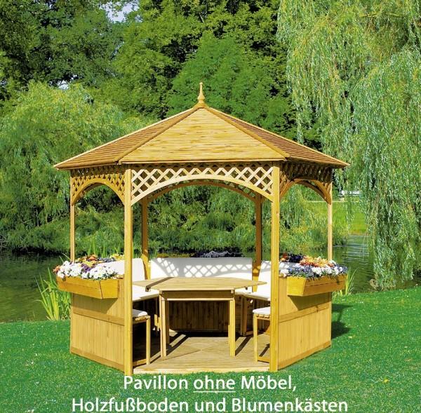 "Pavillon ""Marion"", Kiefer/Leimholz, 278 x 278 cm, ohne Möbel, Gartenpavillon, Pavillonset, Garten"
