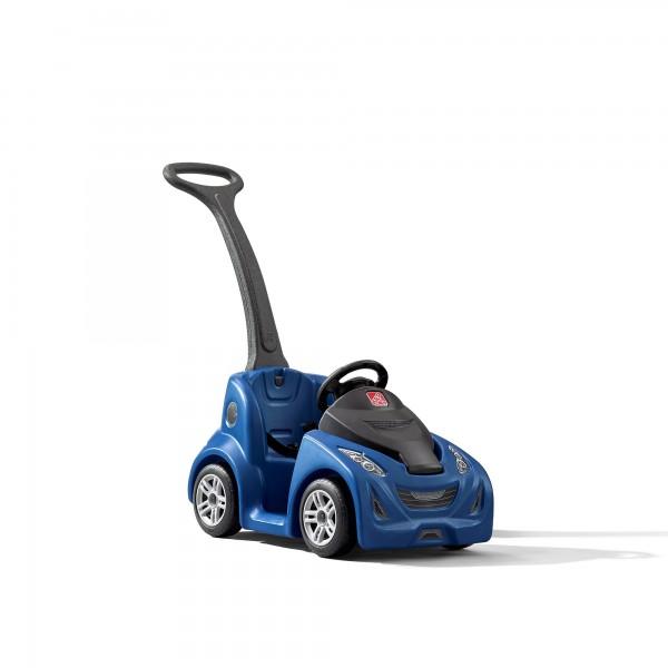 """Kinderauto """"Tjark"""" in blau mit Schiebegriff aus Kunststoff 44,1x103,5x92,7cm"""