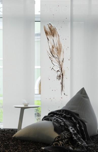 1-teiliger Flächen-Schiebevorhang Emotion Textiles Temperafeder sepia 60 x 260 cm