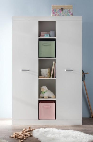 """Kleiderschrank """"Sandy"""", weiß, Schrank, Kinderzimmer, Babyzimmer, 120 x 186 x 54 cm"""