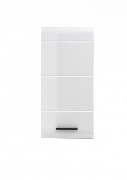 """Hängeschrank """"Laurenz"""", 30 x 77 x 23 cm, weiß/weiß HG, Badschrank, Wandschrank, Badezimmer"""