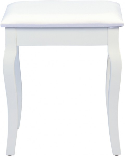 """Hocker """"Diana"""", matt weiß, mit Stoffüberzug, 40 x 48 x 30 cm"""