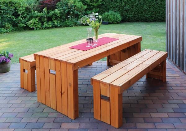 """Holz-Garnitur """"Hubert"""", 3er-Set, Gartenset, Gartensitzset, Holzganitur, Tisch, Bänke, Garten"""