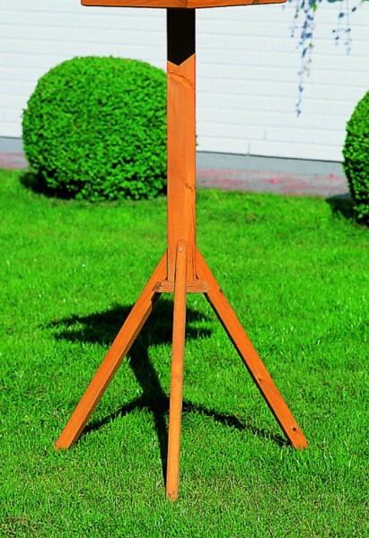Standfuß für Vogelhäuser Holzkasten imprägniert honigbraun 106cm Vogelhäuschen