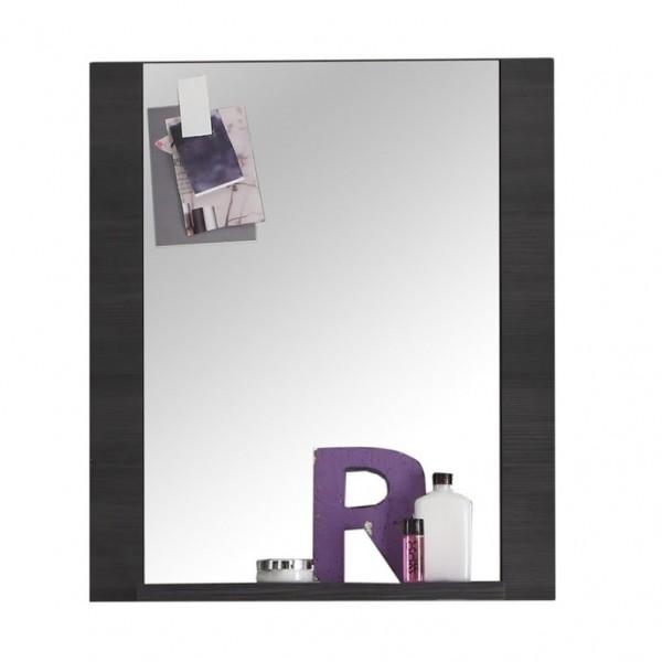 """Wandspiegel """"Mario"""", Badezimmerspiegel, Spiegel, Esche grau, 60 x 70 x 15 cm"""