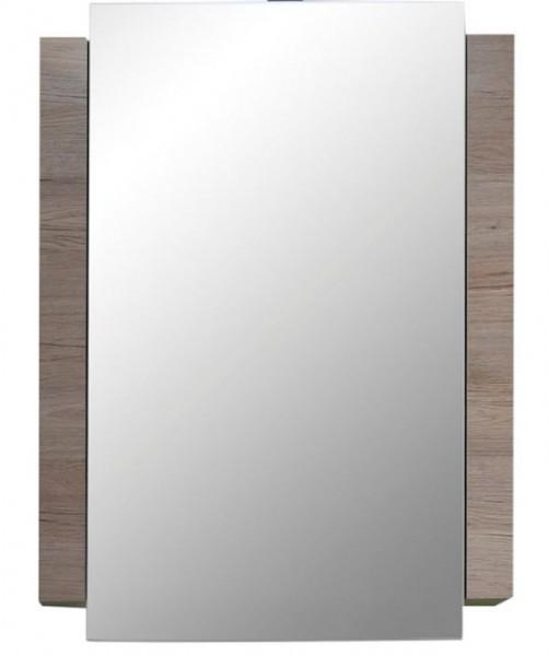 """Spiegelschrank """"Horsholm"""", Badezimmer San Remo-Eiche hell NB wahlw. mit/ohne Beleuchtung 60x80x15cm"""