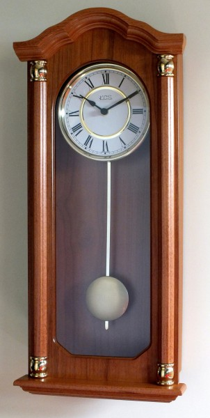 """Wanduhr mit Pendel """"Buckinghamshire"""", Uhr, Wanduhr, Pendeluhr,Buche, Küche, Wohnzimmer, Diele/Flur,"""