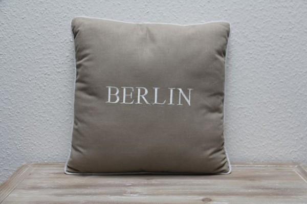 """Beauty.Scouts Kissen Zierkissen """"Berlin"""" 45x65x14cm beige"""
