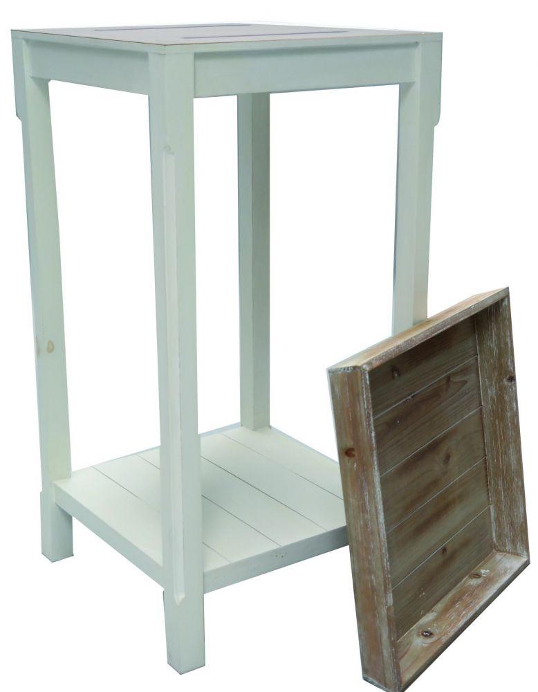beauty scouts telefontisch beistelltisch thierry 78x40x40m wei mit tablett ebay. Black Bedroom Furniture Sets. Home Design Ideas