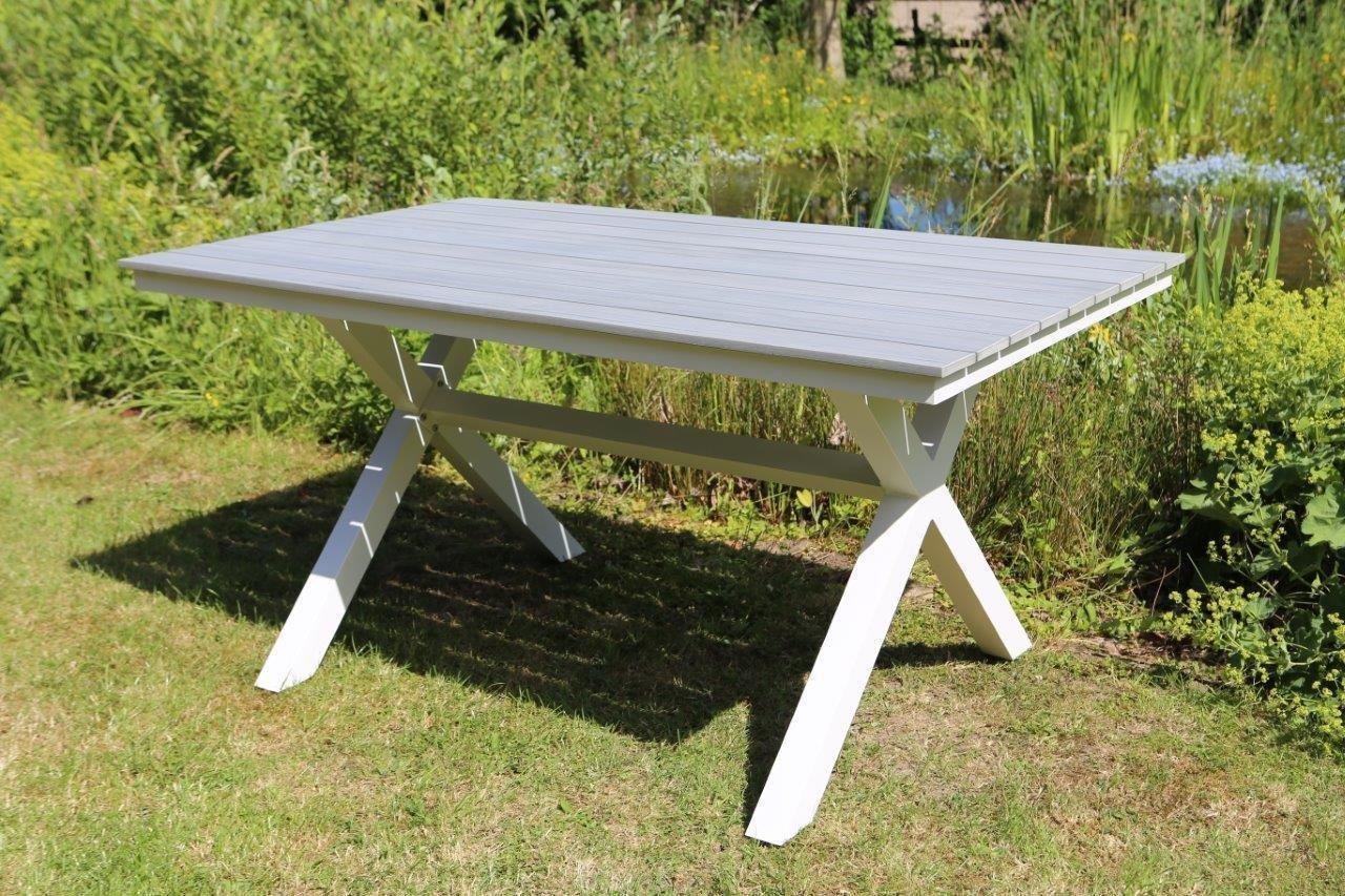 Gartentisch Esstisch 150x90 Cm Tisch Gartentisch Alu Weiss Alutisch
